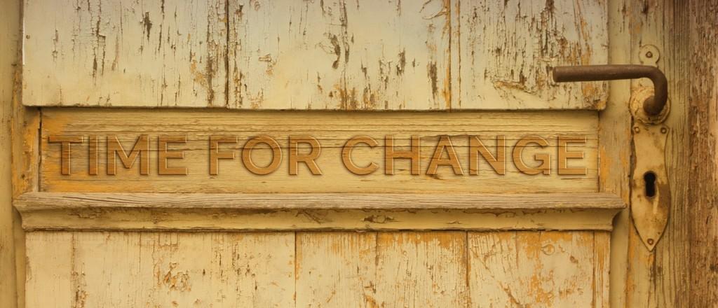 Schriftzug Time for Change
